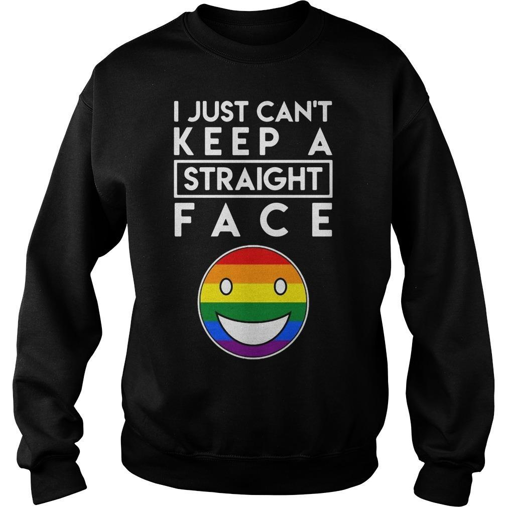 Lgbt Face I Just Keep A Straight Face Sweater