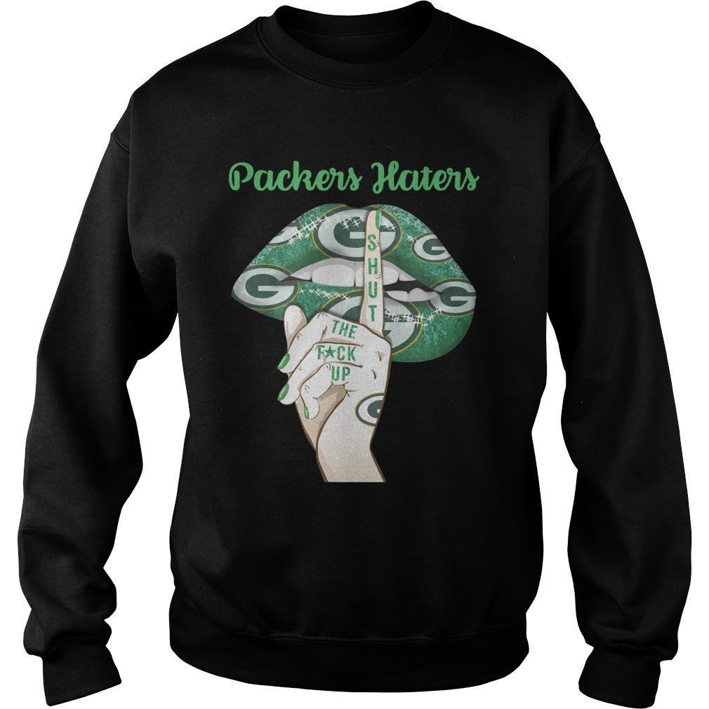Lip Green Bay Packers Haters Shut The Fuck Up Sweater