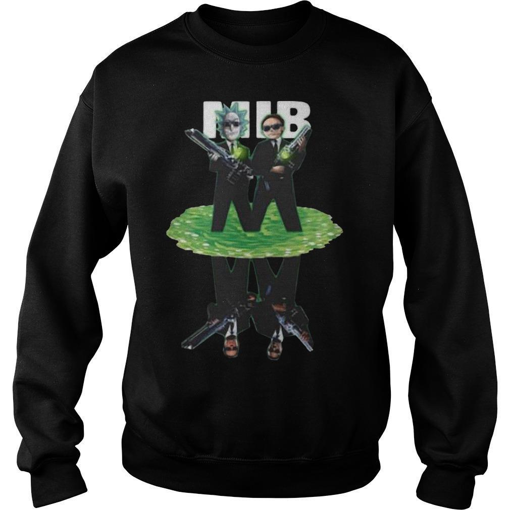 MIB Reflection Rick And Morty T Sweater