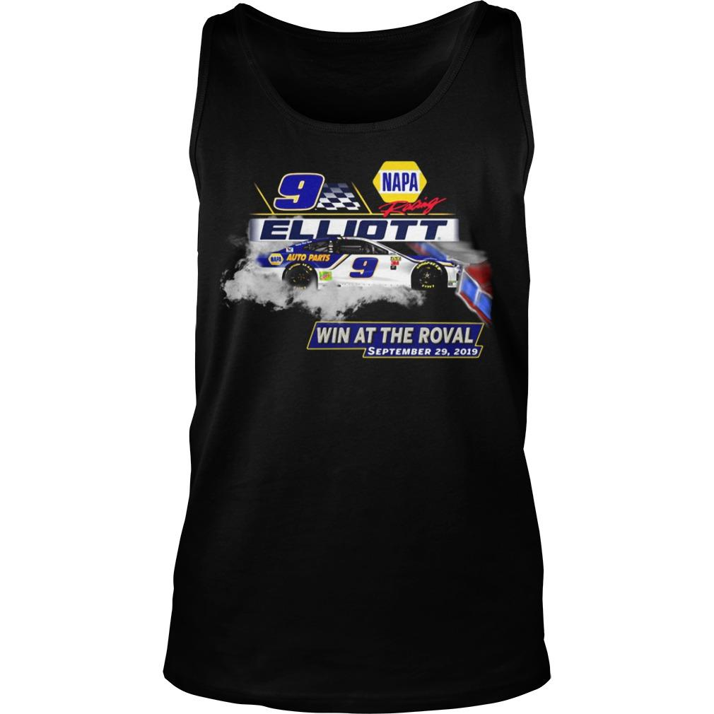 Napa Racing Elliott Win At The Roval September 29 2019 Tank Top