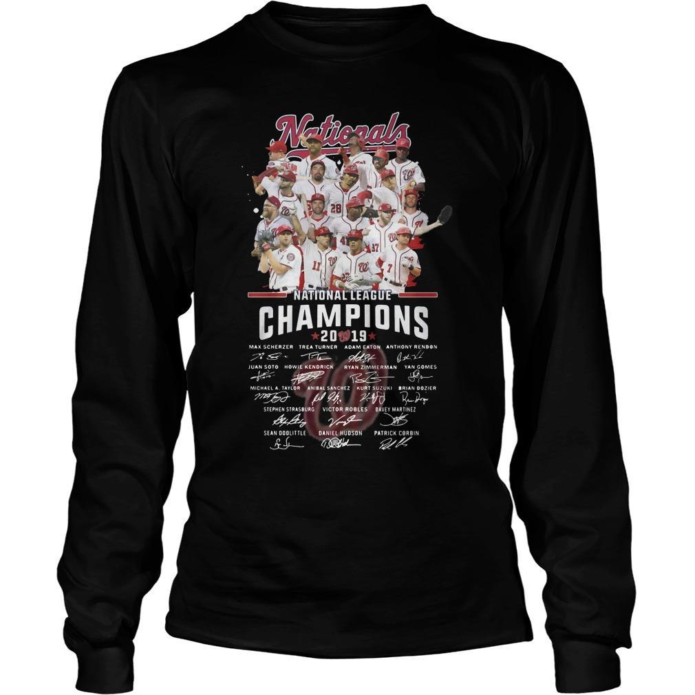National League Champions 2019 Signatures Longsleeve