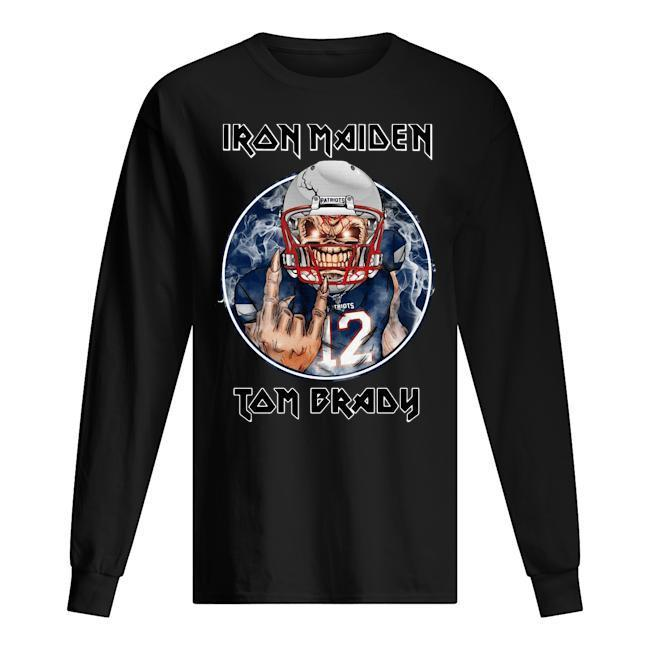 New England Patriots Iron Maiden Tom Brady Longsleeve