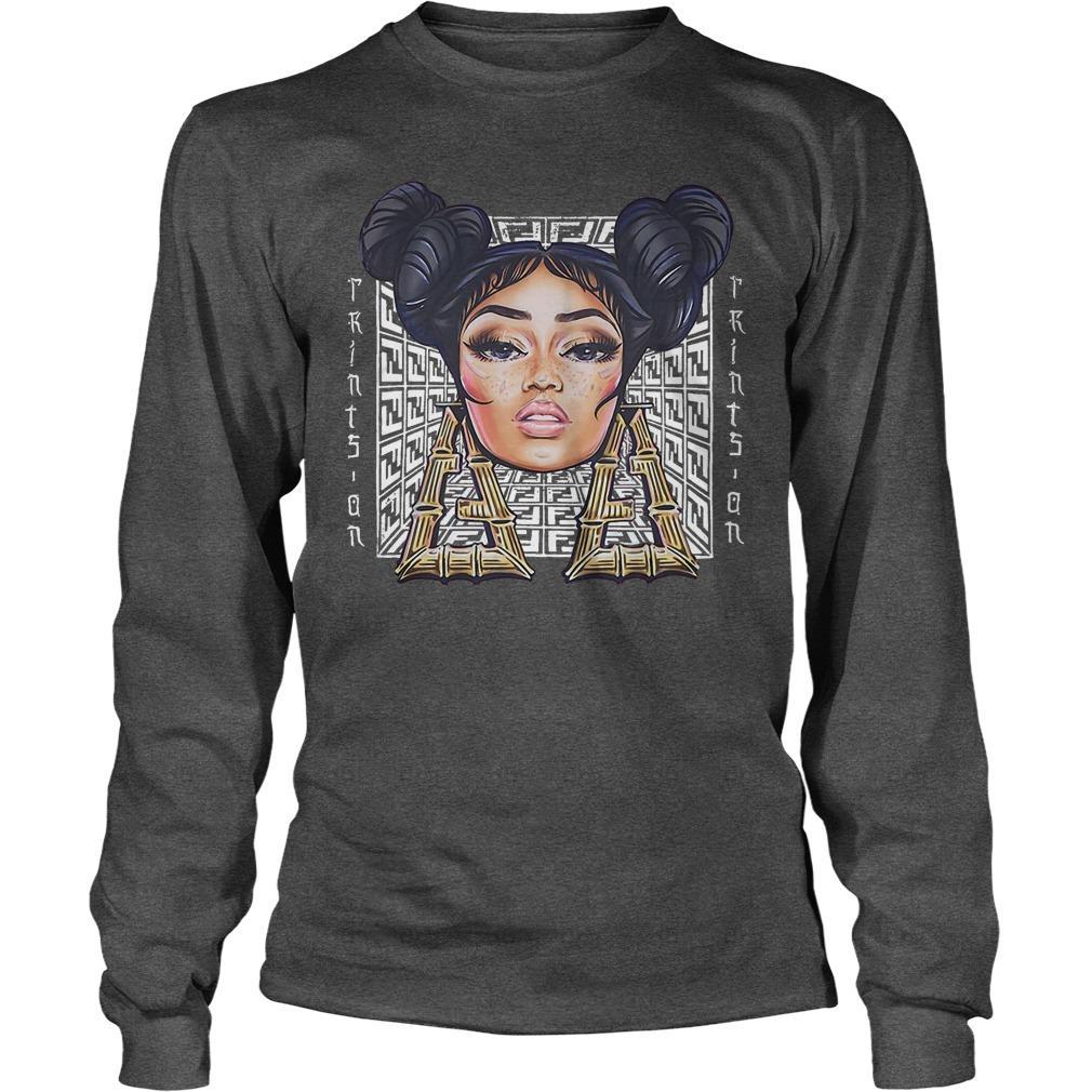Nicki Minaj Fendi Prints On Longsleeve