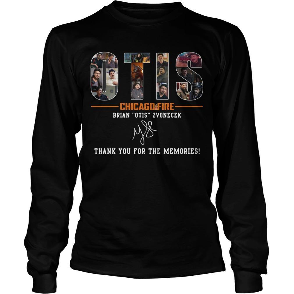 Otis Chicago Fire Brian Otis Zvonecek Thank You For The Memories Signature Longsleeve