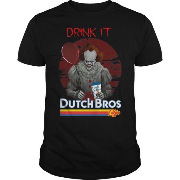 Pennywise Drink IT Dutch Bros Coffee Shirt