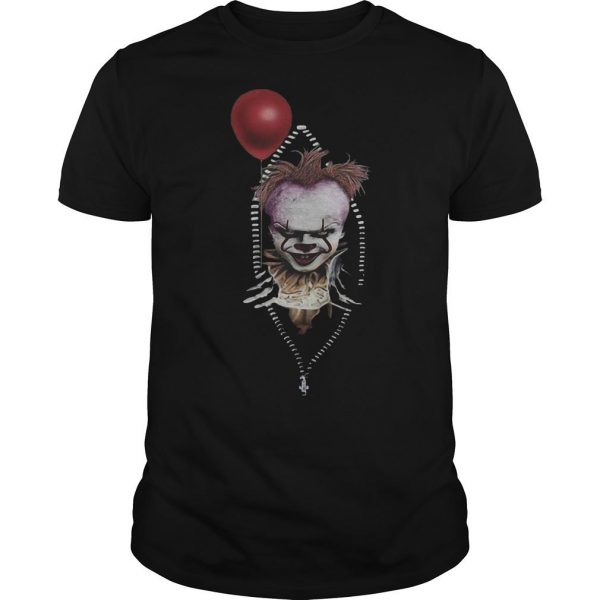 Pennywise IT In Zipper Pocket Shirt