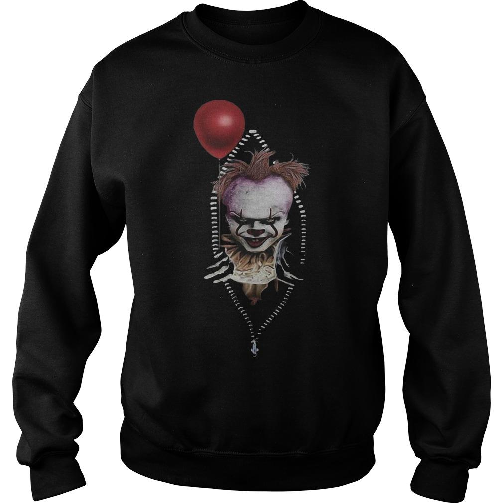 Pennywise IT In Zipper Pocket Sweater