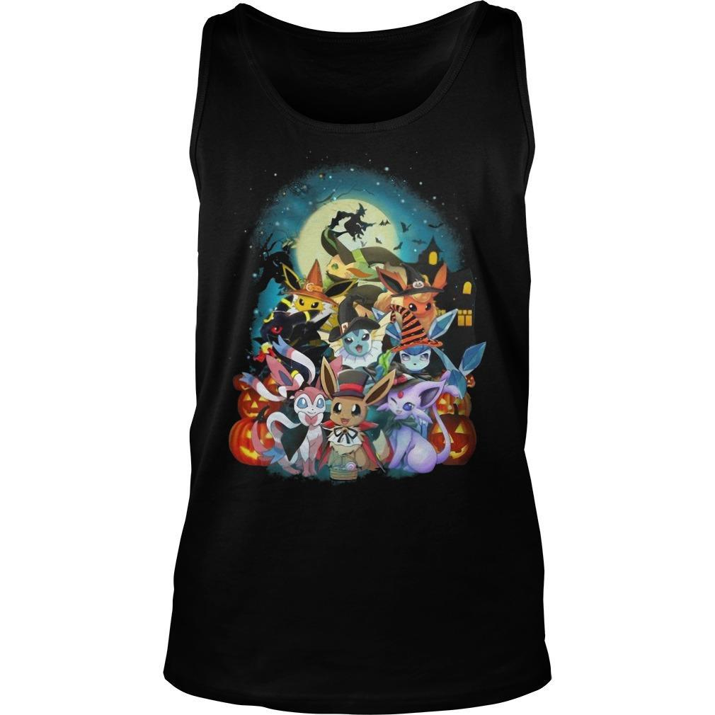 Pokemon Witch In Halloween Night Tank Top