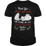 Polar Bear Thank You Mommy And Daddy For Giving Me Life Merry 1st Christmas Shirt