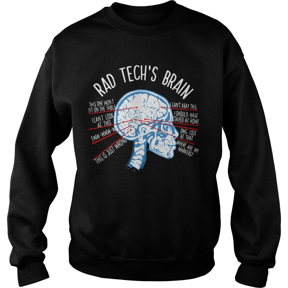Radiology Technician Rad Tech's Brain Sweater