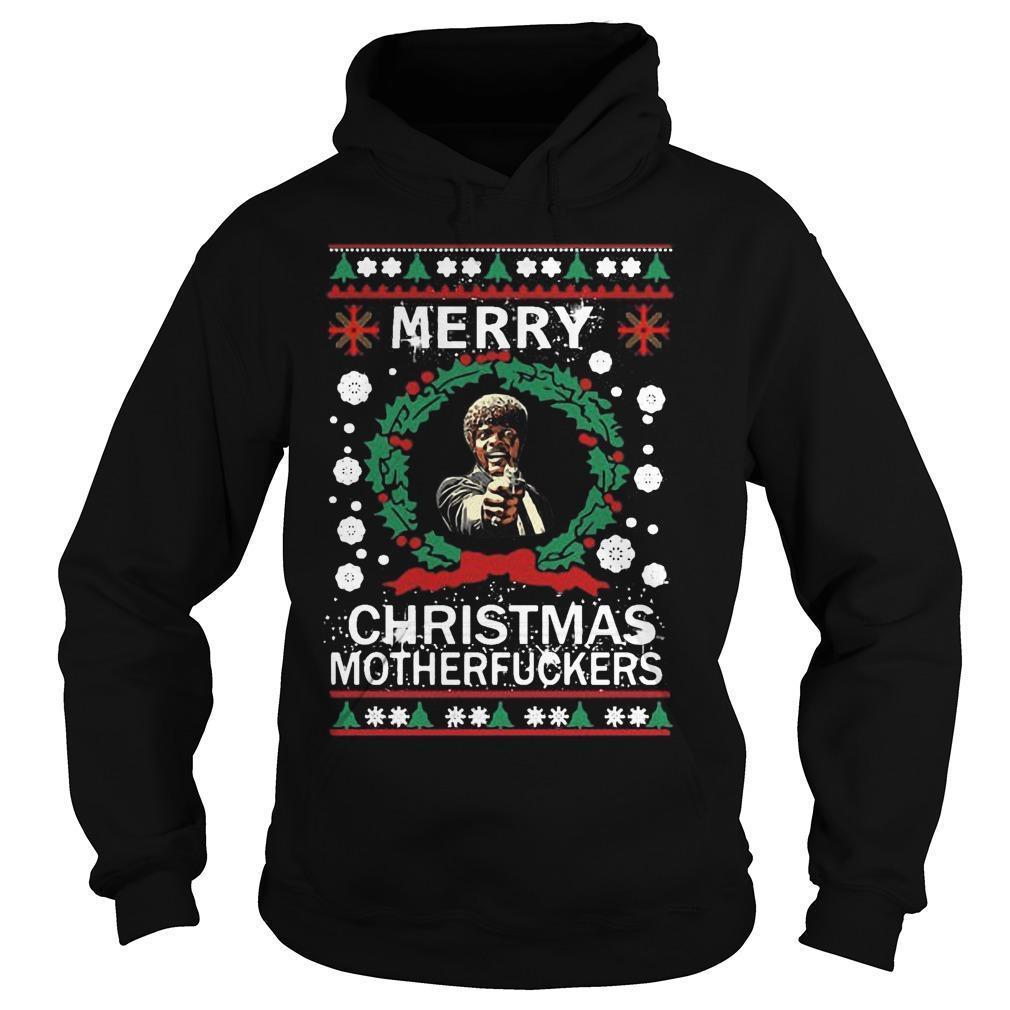 Samuel L Jackson Merry Christmas Motherfucker Hoodie