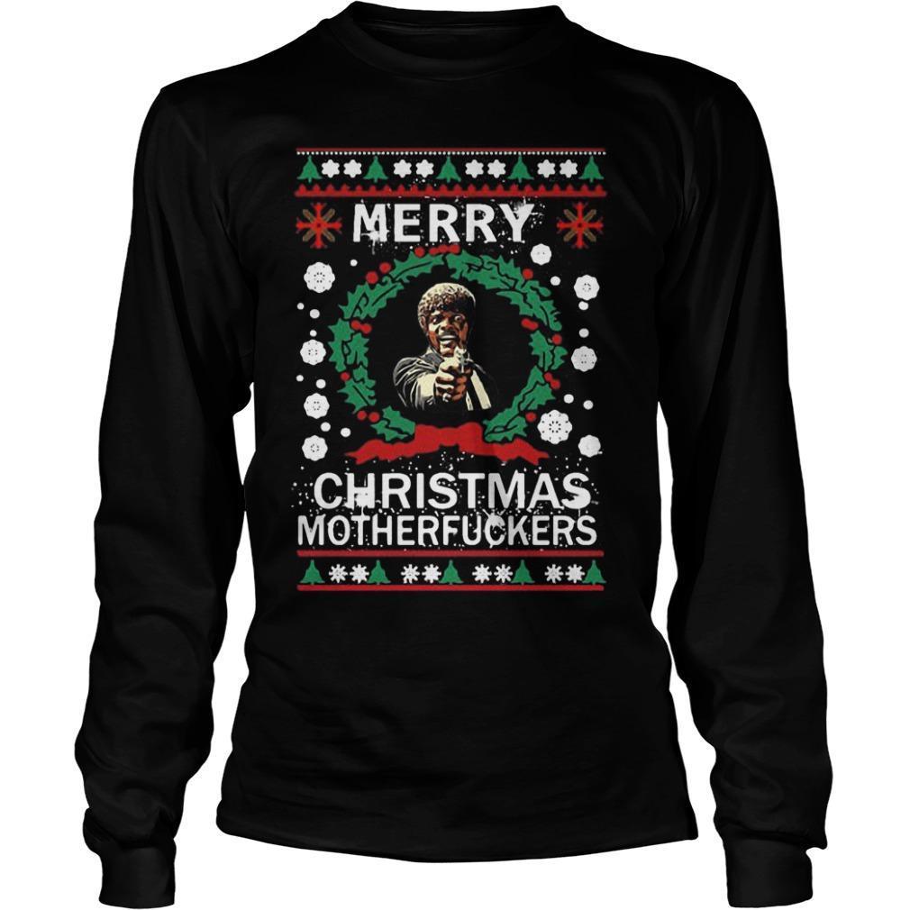 Samuel L Jackson Merry Christmas Motherfucker Longsleeve