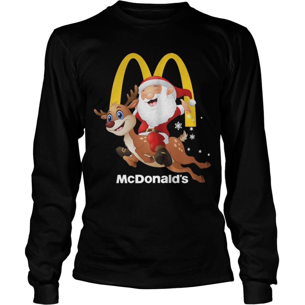 Santa Claus Riding Reindeer Mcdonald Longsleeve