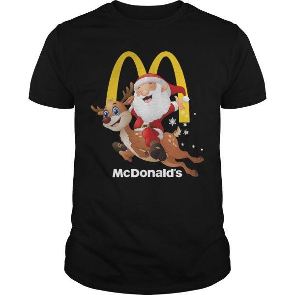 Santa Claus Riding Reindeer Mcdonald Shirt Shirt