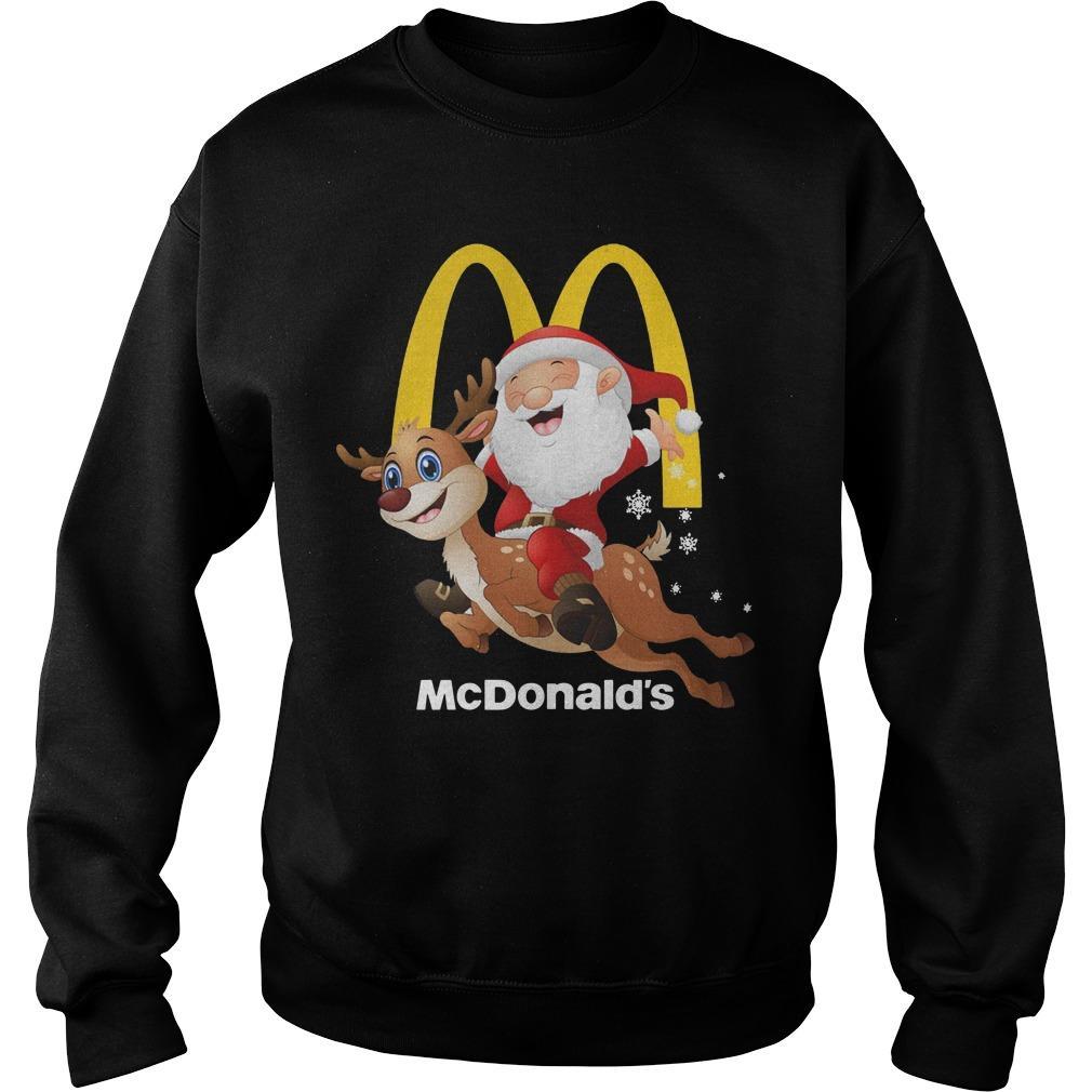 Santa Claus Riding Reindeer Mcdonald Sweater