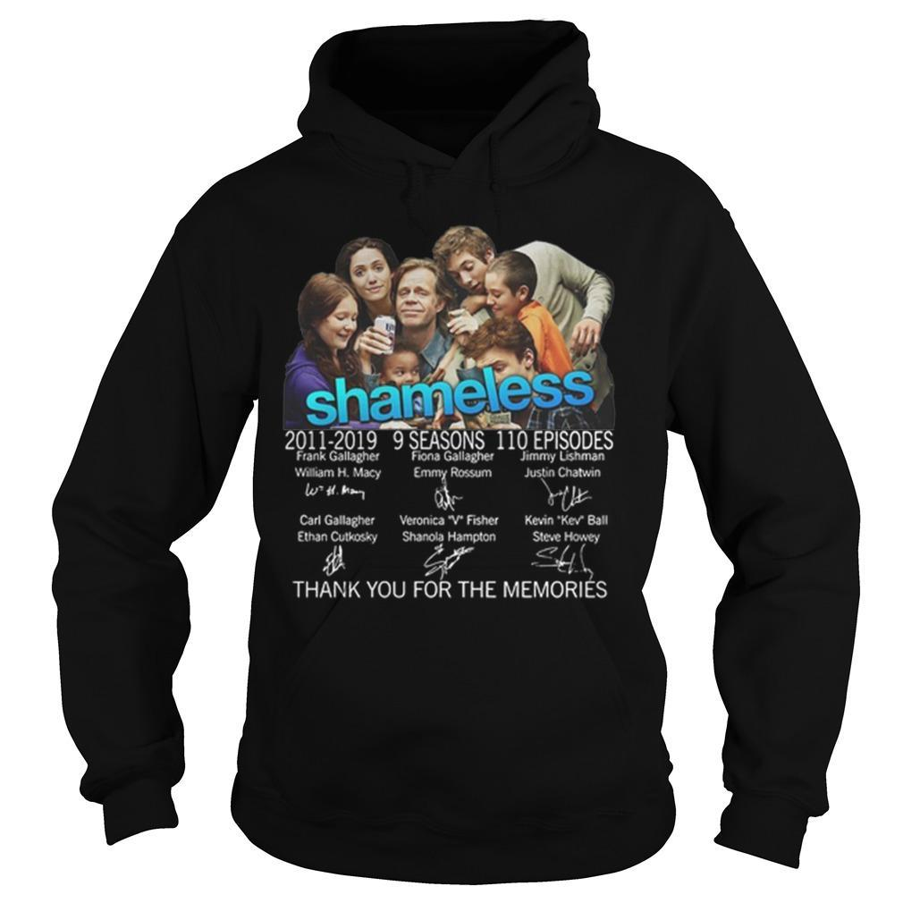 Shameless 2011 2019 9 Seasons Thank You For The Memories Signatures Hoodie
