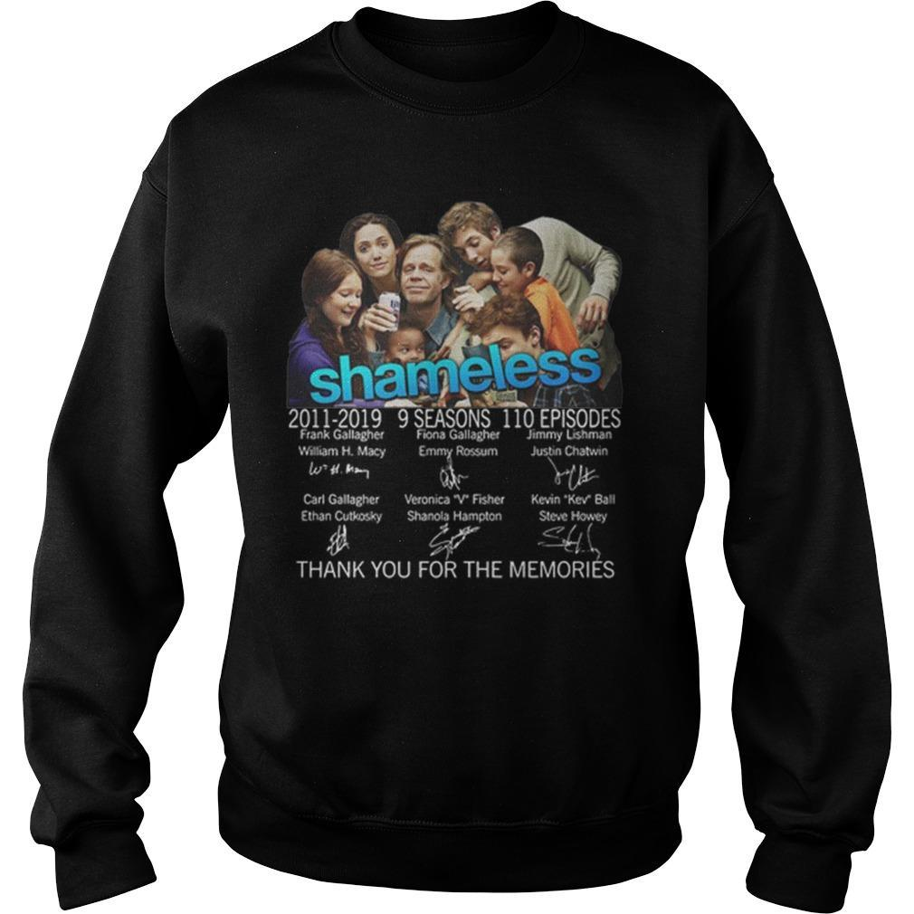 Shameless 2011 2019 9 Seasons Thank You For The Memories Signatures Sweater