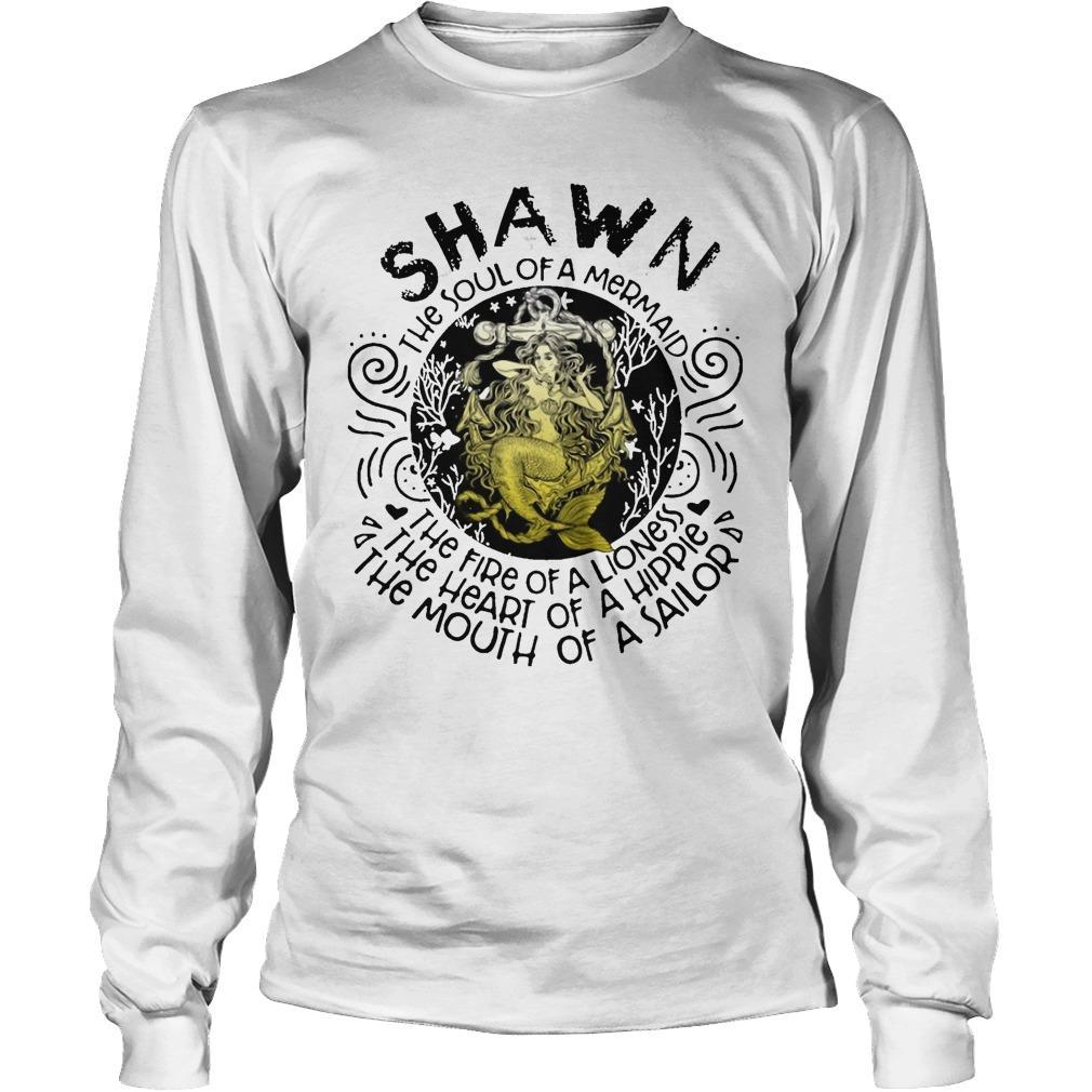 Shawn The Soul Of A Mermaid The Fire Of A Lioness Heart Of Hippie Longsleeve