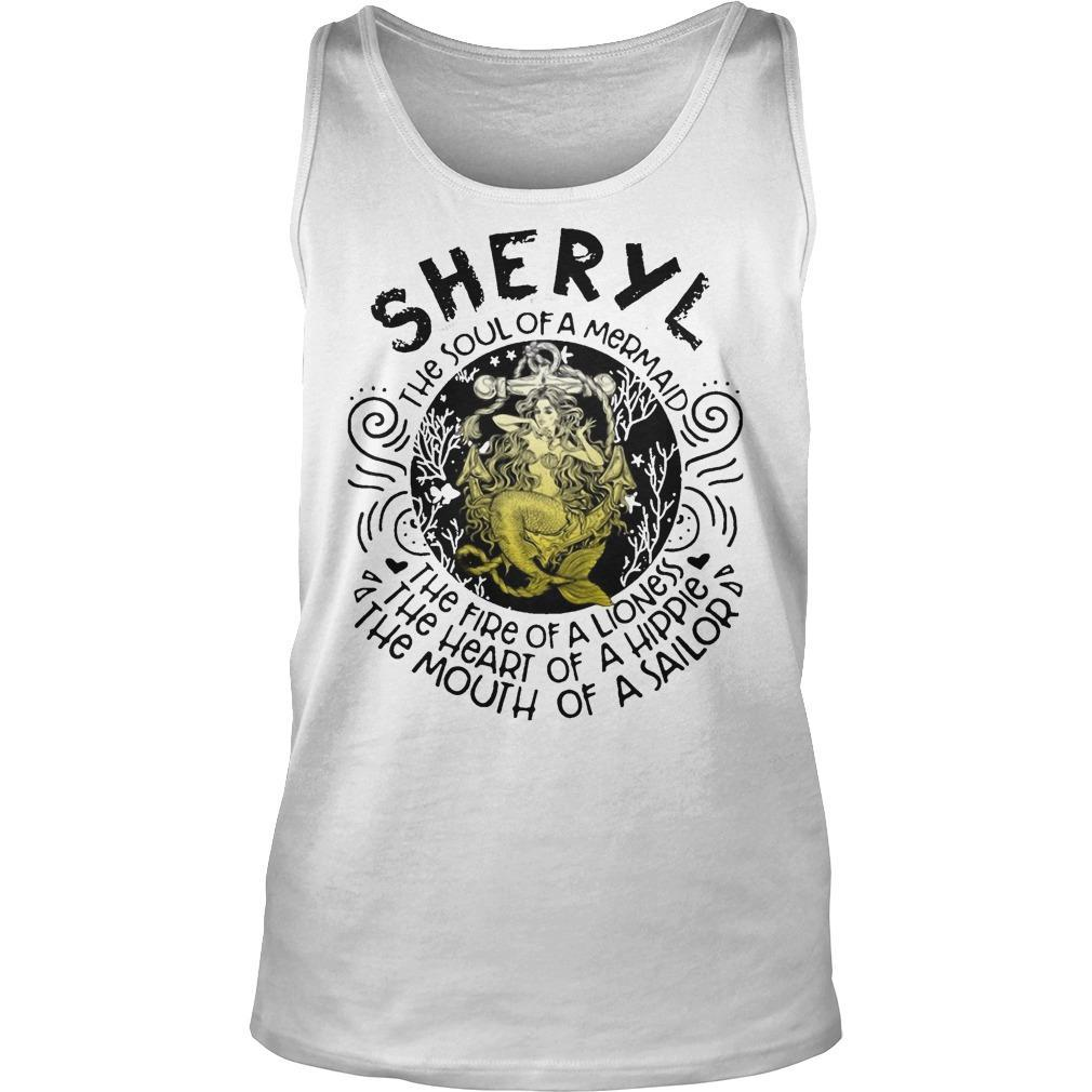 Sheryl The Soul Of A Mermaid The Fire Of A Lioness Heart Of Hippie Tank Top