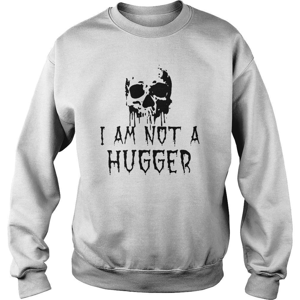 Skull I'm Not A Hugger Sweater