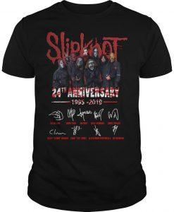 Slipknot 24th Anniversary 1995 2019 Signatures Shirt