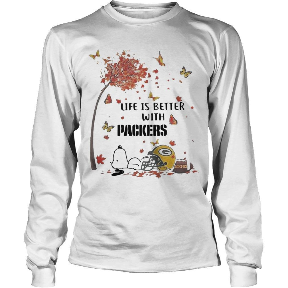 Snoopy Life Is Better With Packers Longsleeve