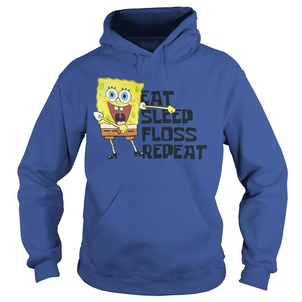 Spongebob Eat Sleep Floss Repeat Hoodie