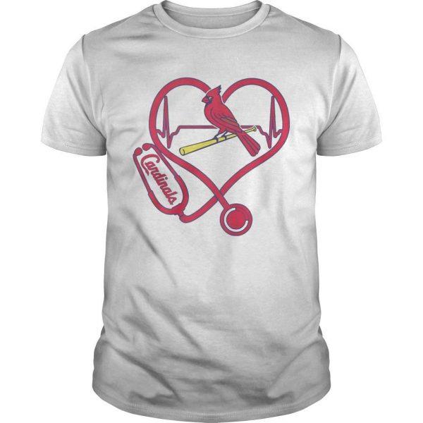 Stethoscope Heart St. Louis Cardinals Shirt