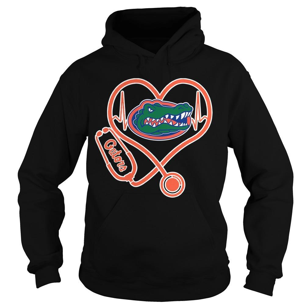 Stethoscope Heartbeat Nurse Gators Hoodie