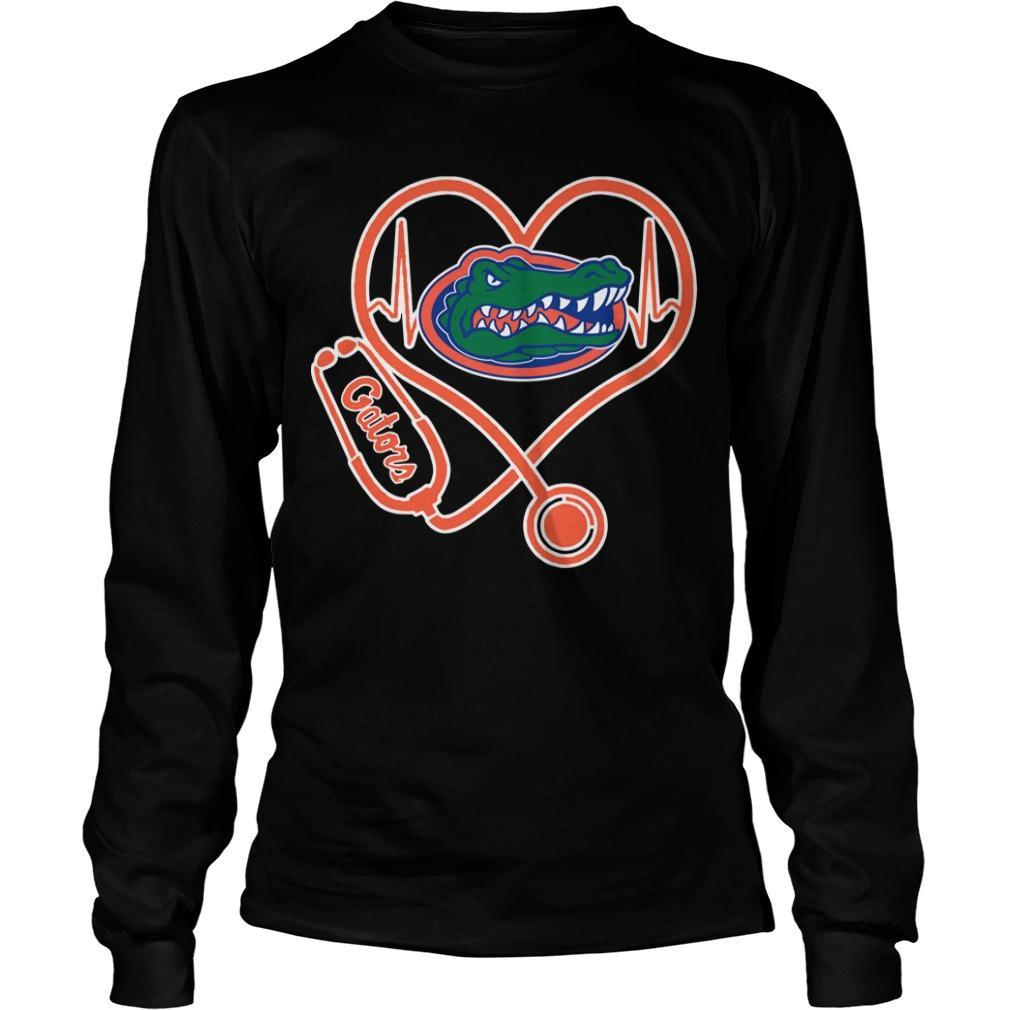 Stethoscope Heartbeat Nurse Gators Longsleeve
