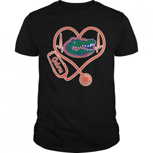 Stethoscope Heartbeat Nurse Gators Shirt
