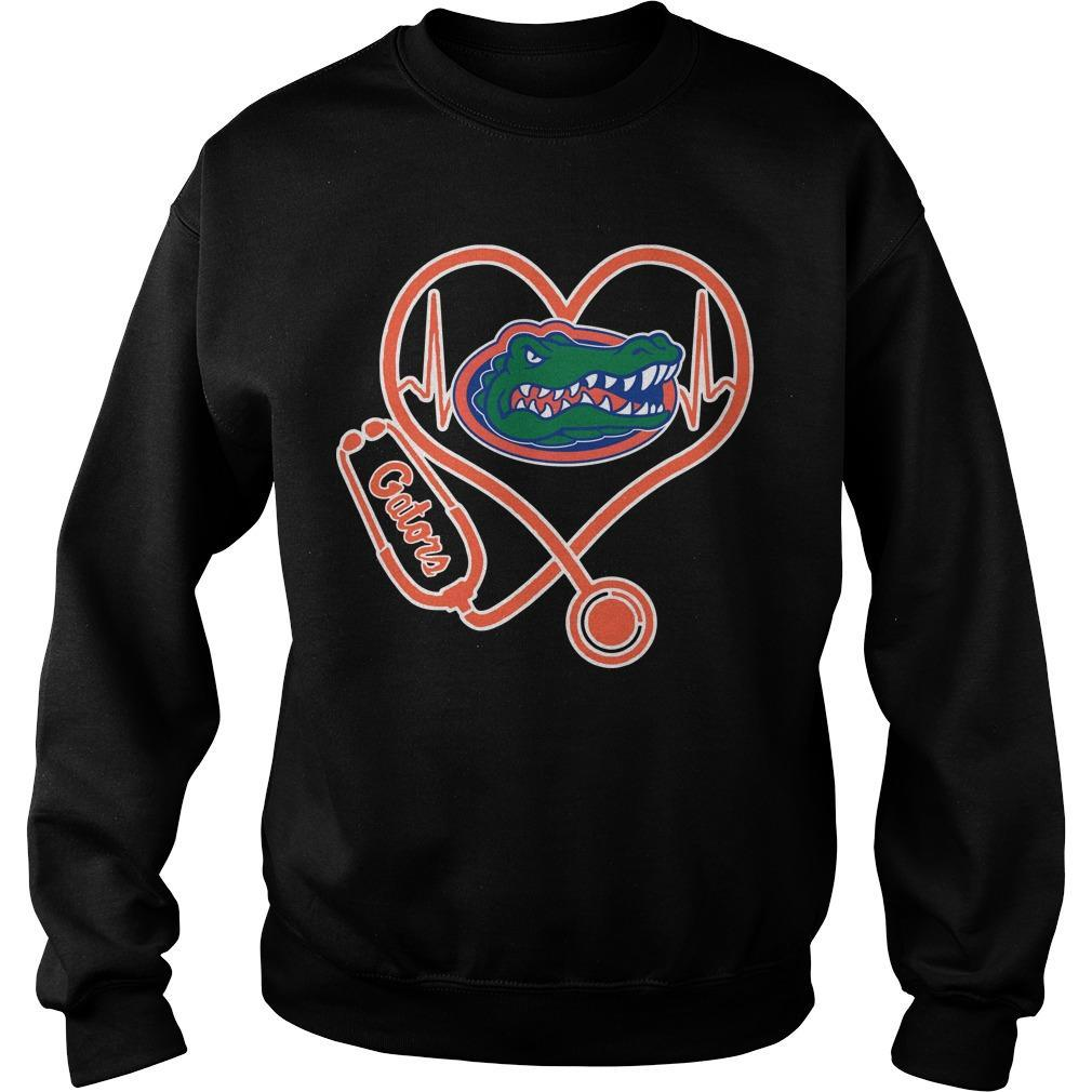 Stethoscope Heartbeat Nurse Gators Sweater