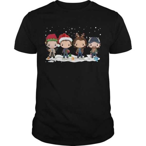 Supernatural Chibi Characters Christmas Shirt