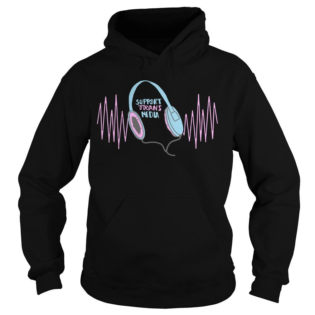 Support Trans Media Hoodie