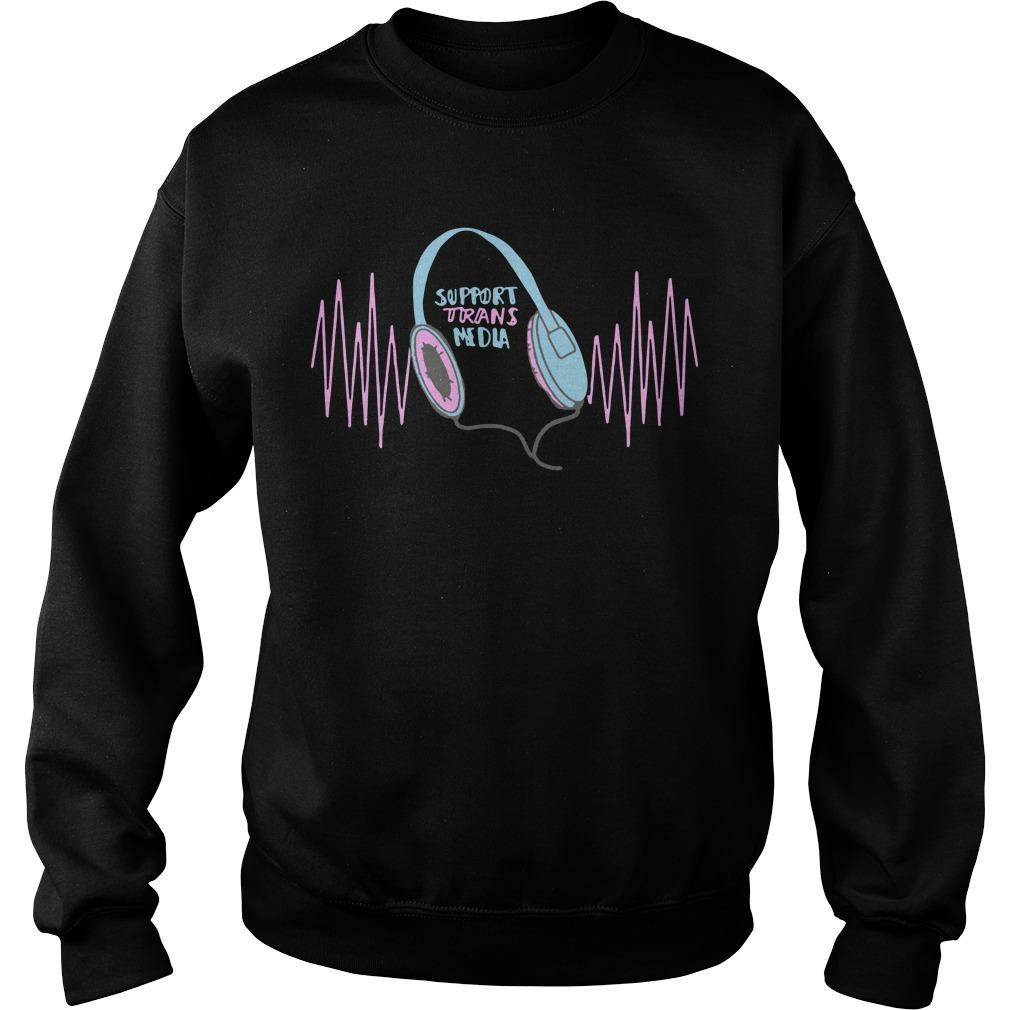 Support Trans Media Sweater