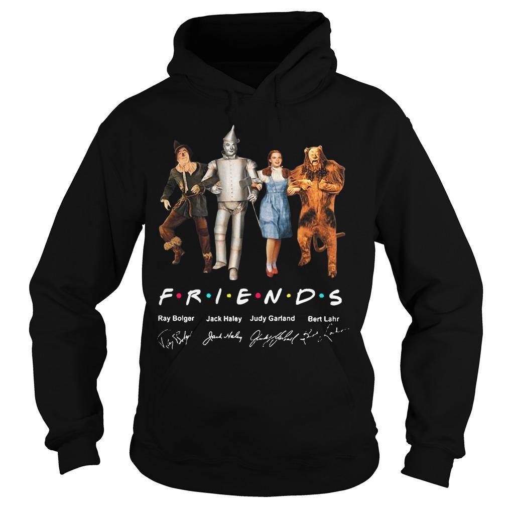 The Wizard Of Oz Characters Friends Tv Show Signatures Hoodie
