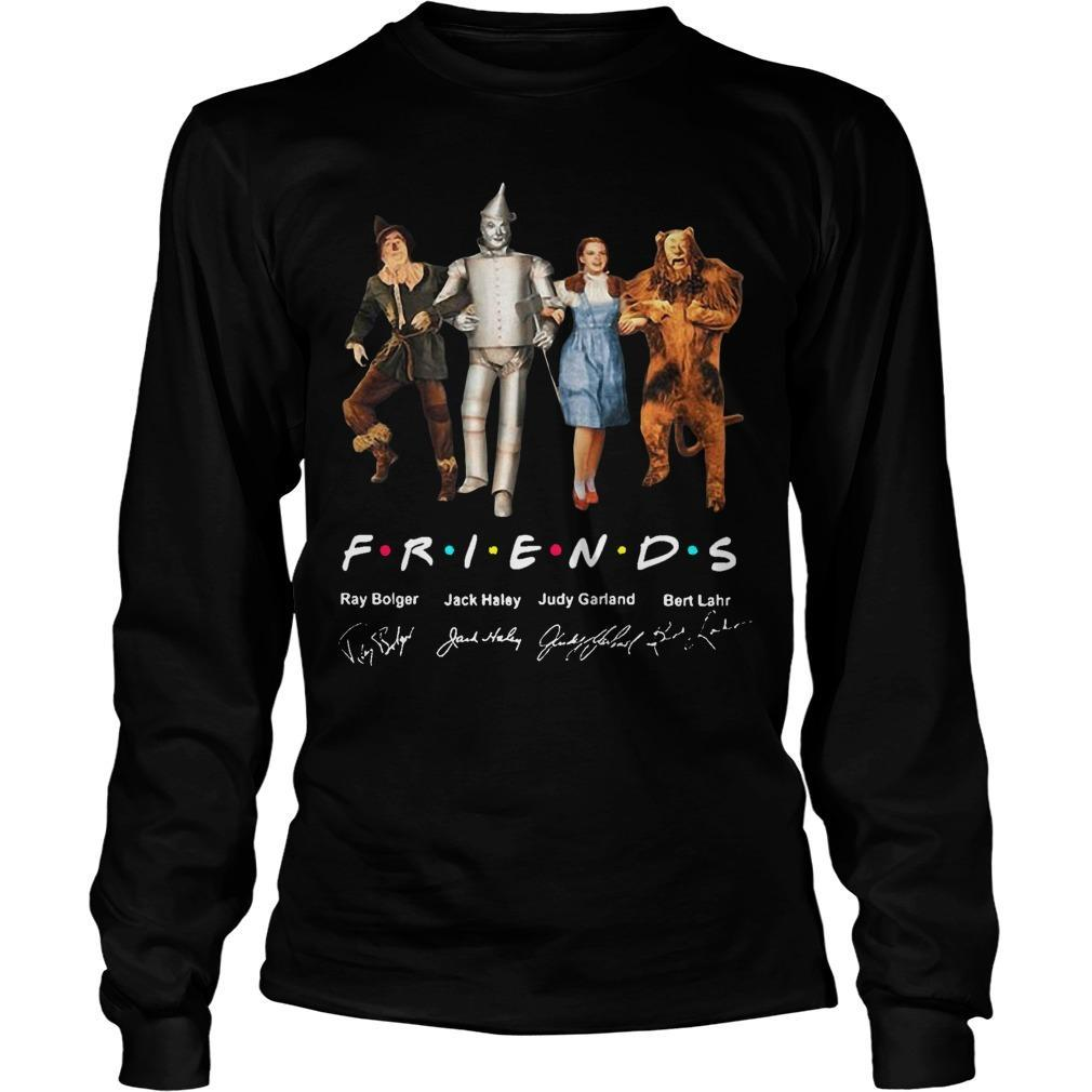 The Wizard Of Oz Characters Friends Tv Show Signatures Longsleeve