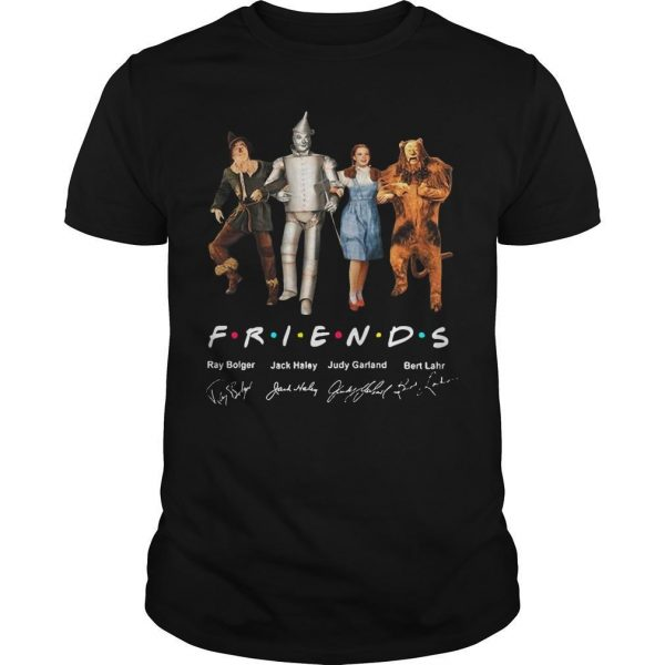 The Wizard Of Oz Characters Friends Tv Show Signatures Shirt