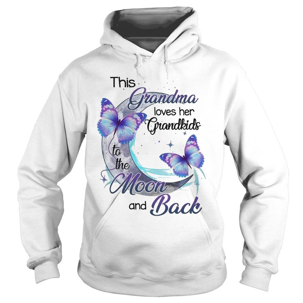This Grandma Loves Her Grandkids To The Moon And Back Hoodie