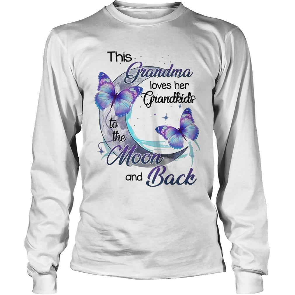 This Grandma Loves Her Grandkids To The Moon And Back Longsleeve