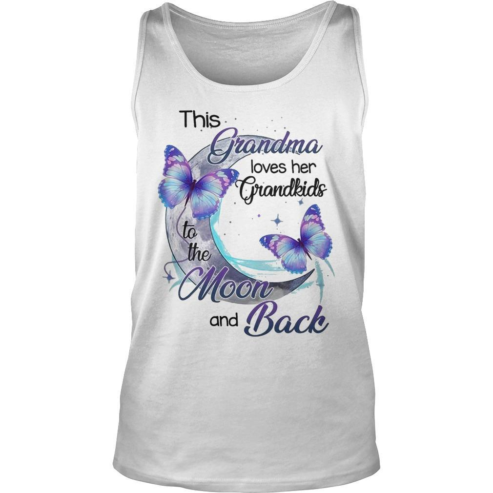 This Grandma Loves Her Grandkids To The Moon And Back Tank Top