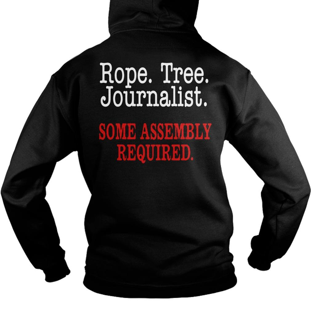 United Flight Rope Tree Journalist Some Assembly Required Hoodie