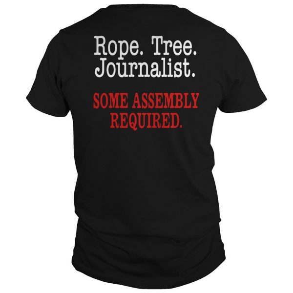 United Flight Rope Tree Journalist Some Assembly Required Shirt