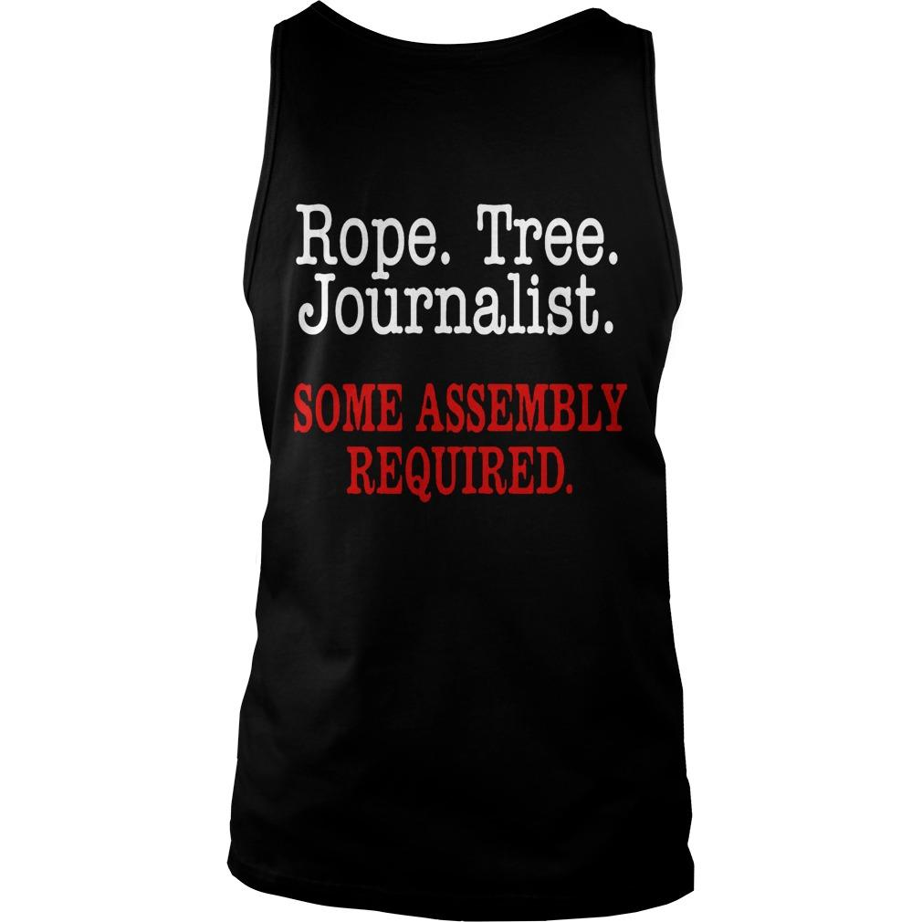 United Flight Rope Tree Journalist Some Assembly Required Tank Top