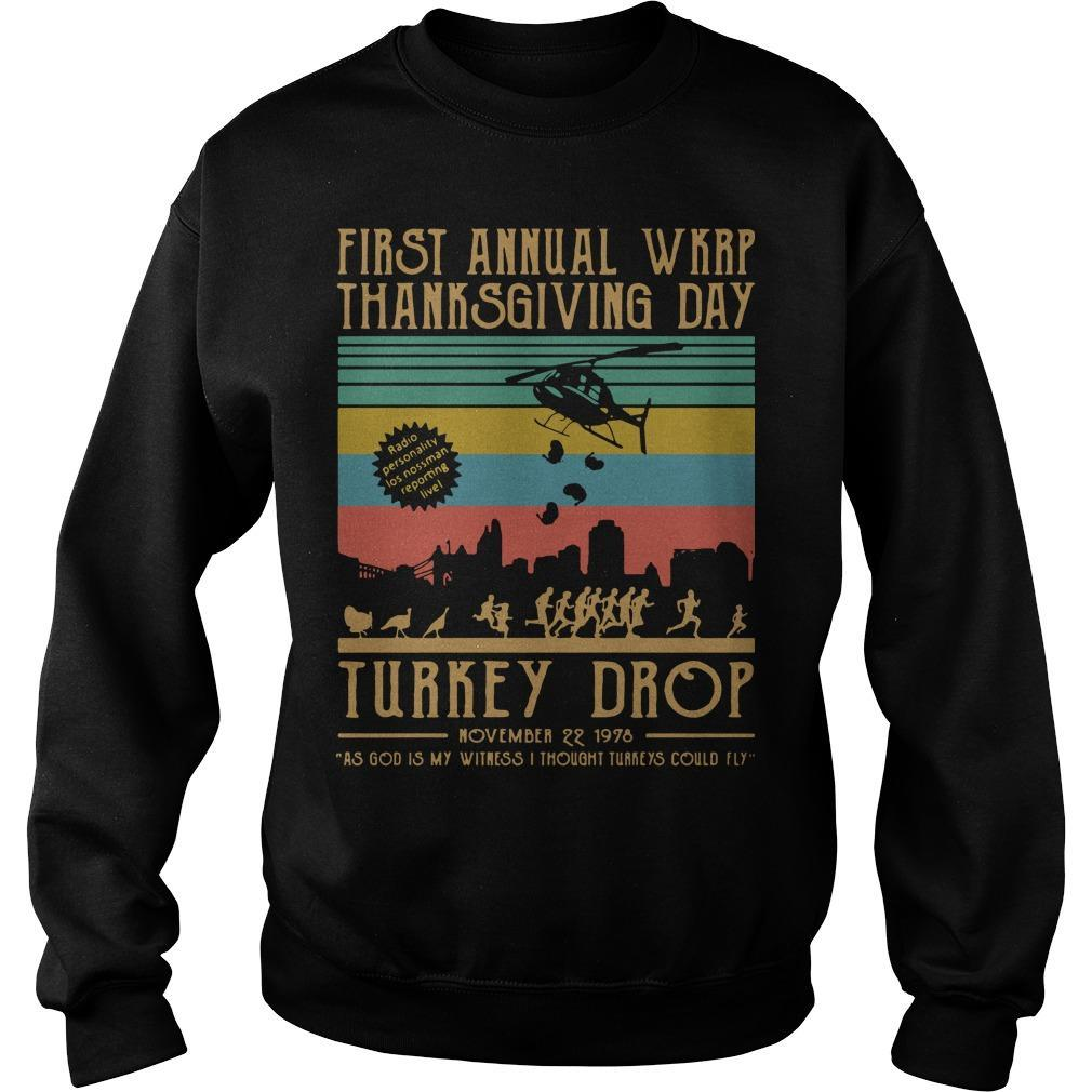 Vintage First Annual Wkrp Thanksgiving Day Turkey Drop Sweater