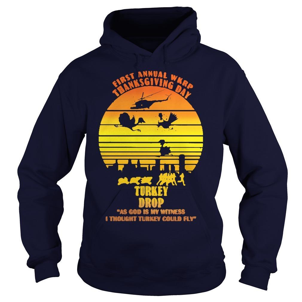 Vintage First Annual Wkrp Turkey Drop Hoodie