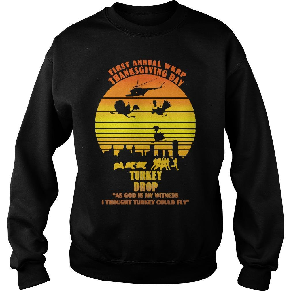 Vintage First Annual Wkrp Turkey Drop Sweater