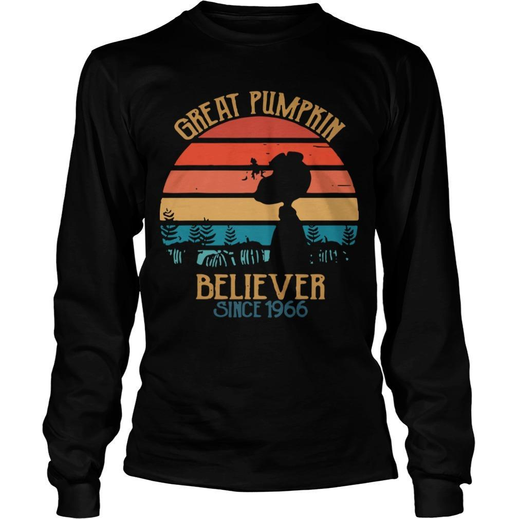 Vintage Great Pumpkin Believer Since 1966 Longsleeve