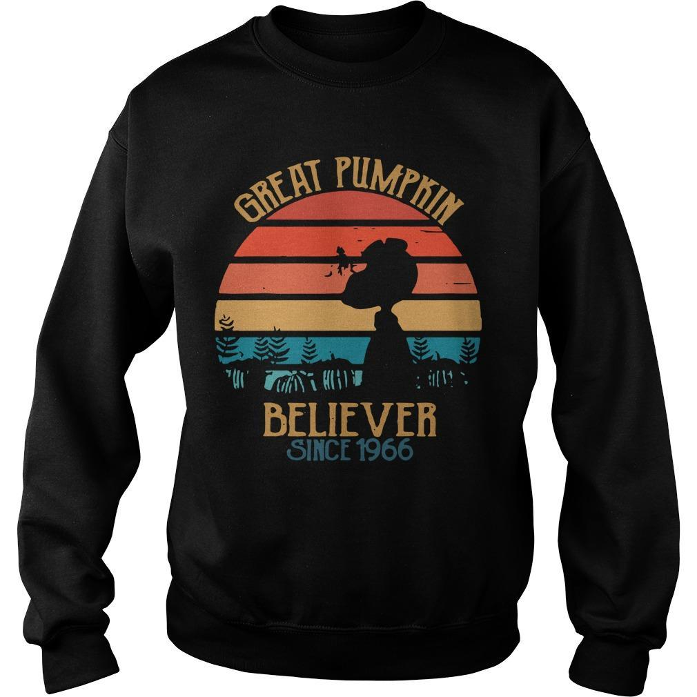Vintage Great Pumpkin Believer Since 1966 Sweater