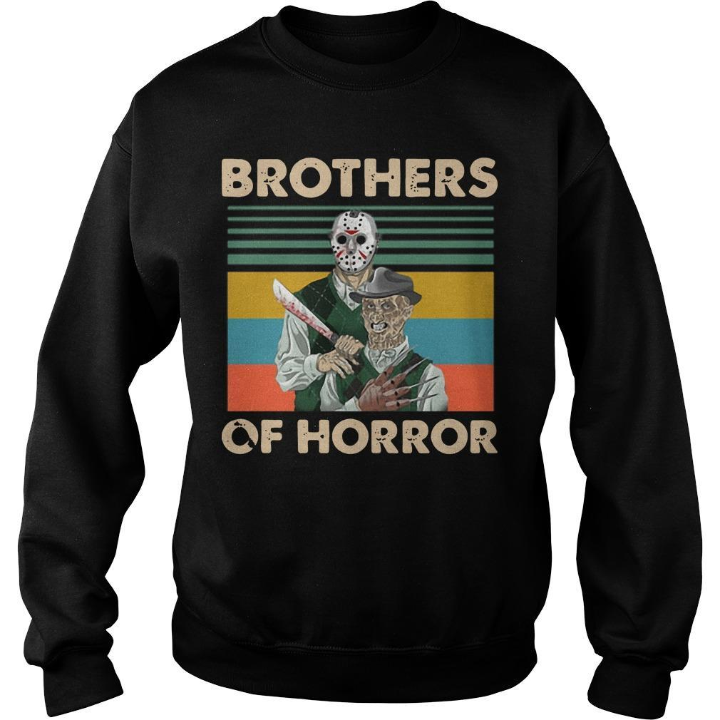 Vintage Jason Voorhees Freddy Krueger Brothers Of Horror Sweater